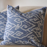 Blue Cloud Batik Pillow