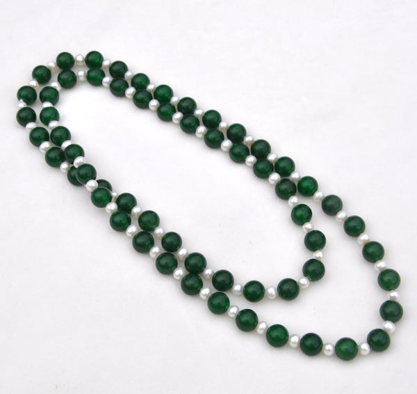 Jadeite & Freshwater Pearl Necklace