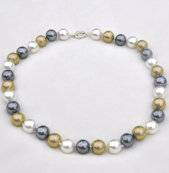 Multi Color Pearls w/ Sterling Clasp