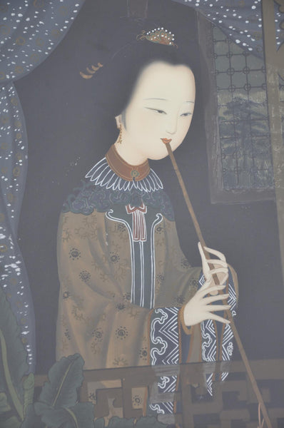 Eglomise Painting of Chinese Lady