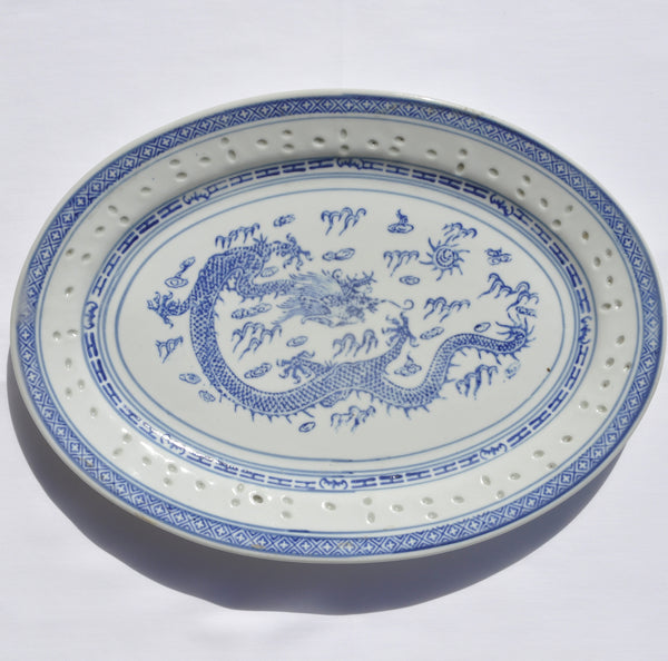 Rice Dragon Oval Platter