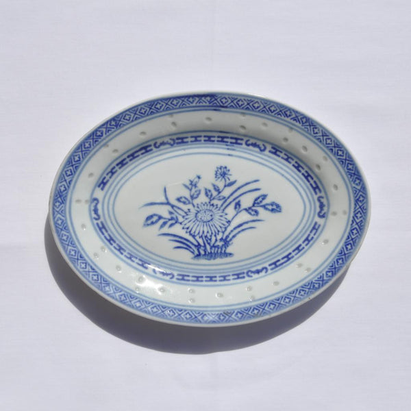 Tienshan Rice Flower Oval Plate