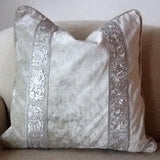 Off white Ice Velvet Pillow