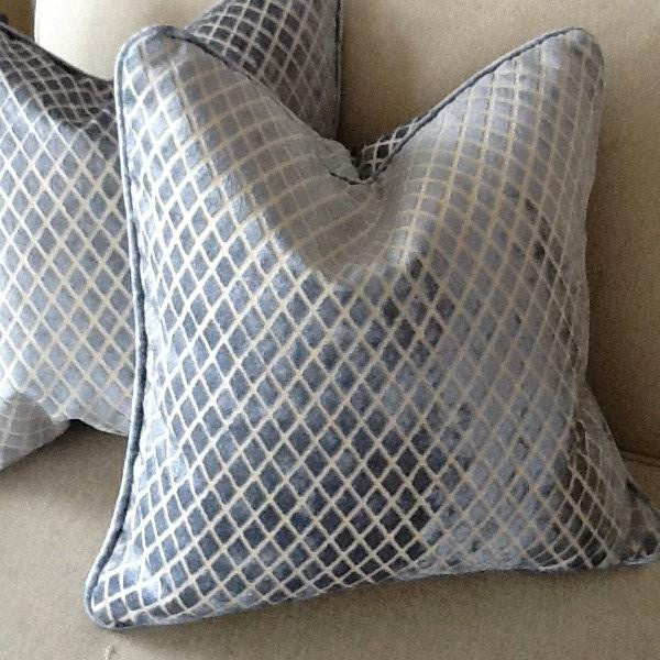 Blue Ice Diamond Pillow