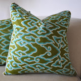 Green Cloud Batik Pillow