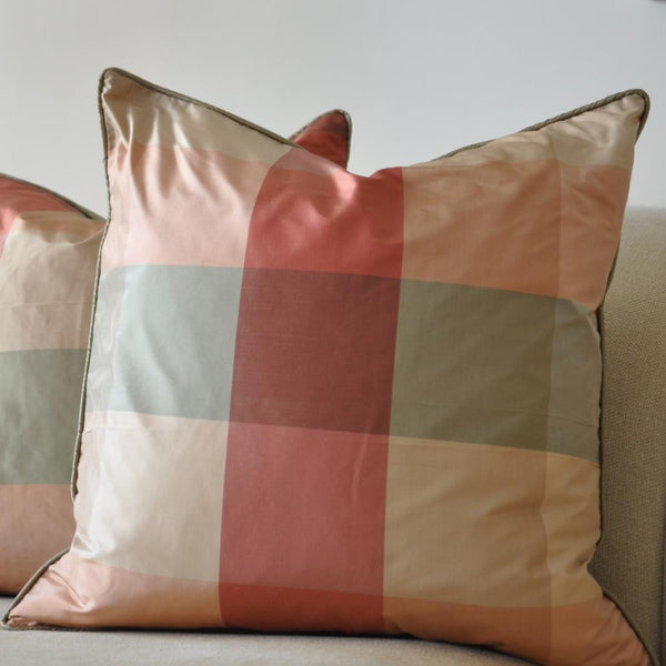 Multi-Color Silk Pillow
