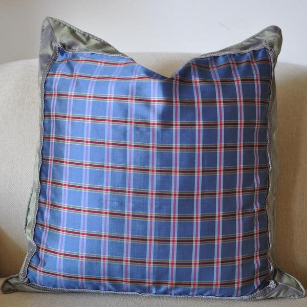 Blue Plaid Pillow II