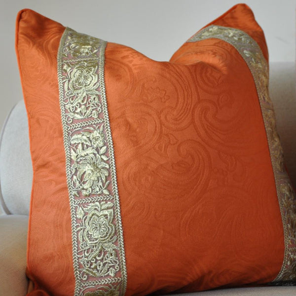Orange Gilt Pillow