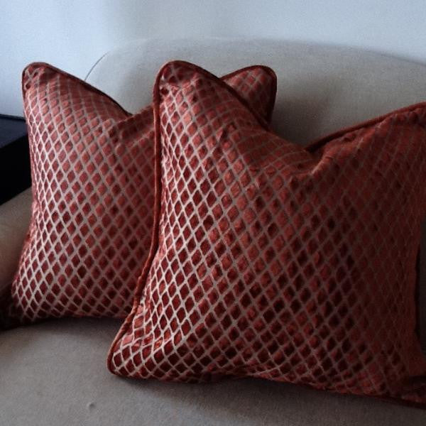 Spice Diamond Pillow