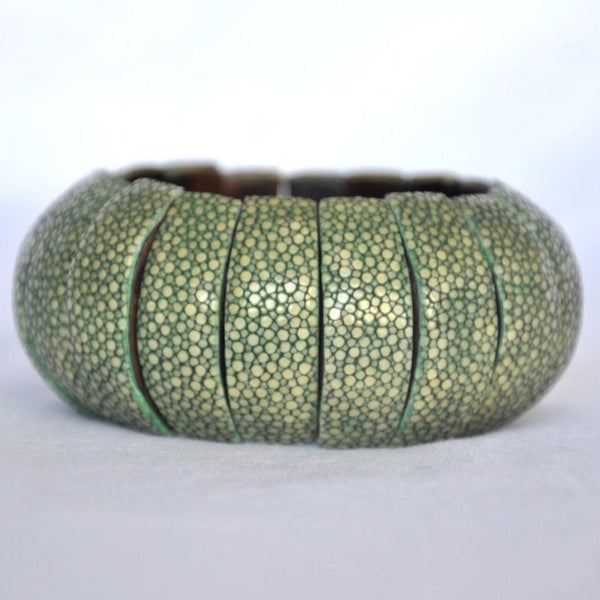 Shagreen Bubble Bracelet-Green
