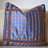 Blue Plaid Pillow III