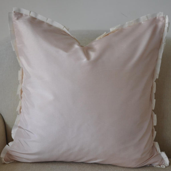 Pale Pink Silk Pillow