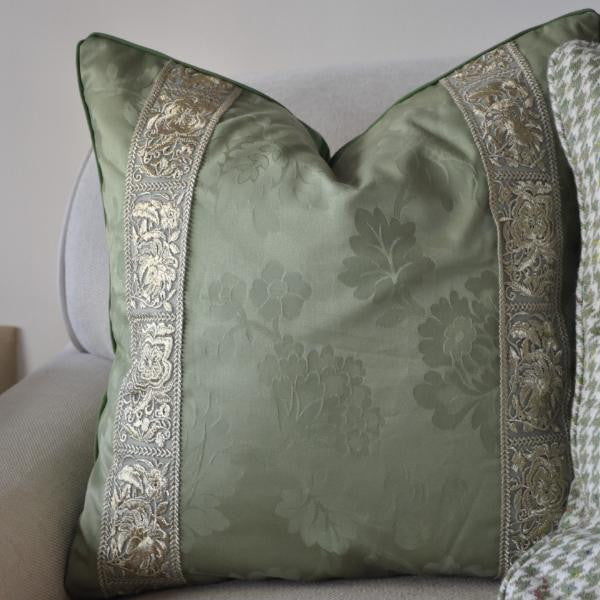 Emerald Gilt Pillow