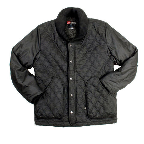 QUILTED OILSKIN JACKET