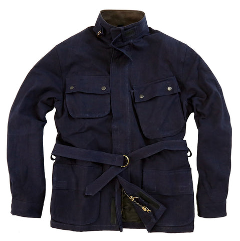 MUDGEE JACKET IN NAVY, MUSTARD AND ESPRESSO- CLEARANCE