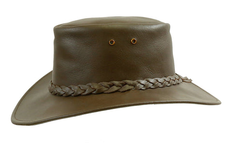 Australian Style Clowboy Leather Hat Murray in brown | Clearance