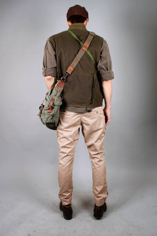 Kakadu Outdoor Multi Pocket Vest Traveller, made from Waterproofed Oilskin