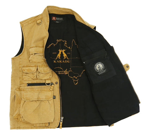 Kakadu Traders Multi Pocket Outdoor Vest Delta Canvas