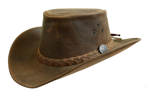 Bulldog Leather Hat with shapeable Brim | made in Australia
