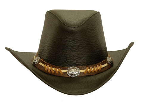 Classic Western Leather Hat Stampy with shapeable Brim
