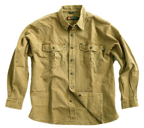 Kakadu Australia Men's Over Shirt Long Sleeve Worker Shirt- Mc Leod | Clearance