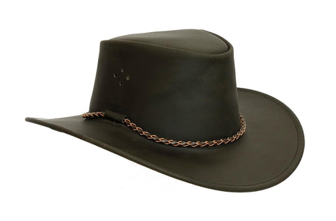 bf16e37056e9f Kakadu Traders Original Leather Hat Sydney made from waxed Leather