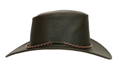 Kakadu Traders Original Leather Hat Sydney made from waxed Leather