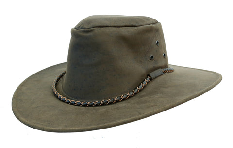 Kakadu Traders Australian Made The Roo Leather Hat | Clearance