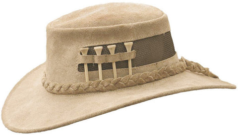 Kakadu Leather Hat with Mesh, The Golfer
