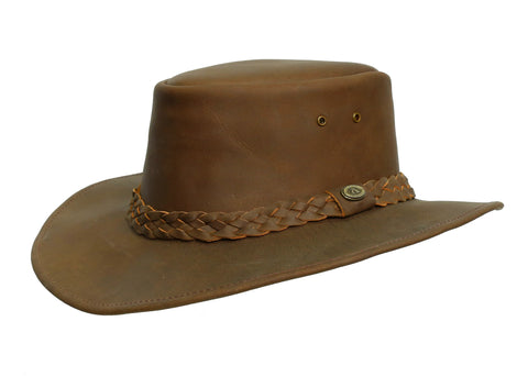 Kakadu Bushranger Leather Hat with shapeable Brim | Clearance