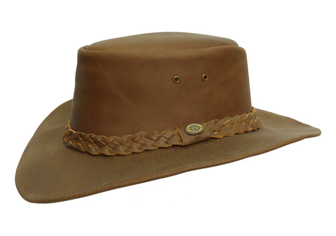 Kakadu Bushranger Leather Hat with shapeable Brim