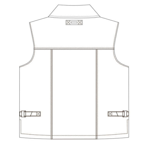 Kakadu Concealed Kelly Vest, Classic Worker Style with hugh inside pockets, 2nd choice