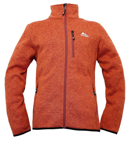 Nordberg Fleece Strickjacke Felix in orange