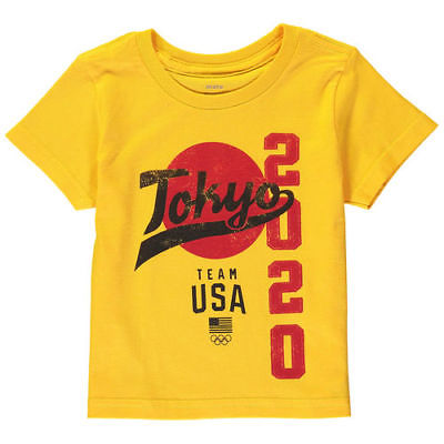Team USA Toddler Road to Tokyo 2020 T-Shirt - Yellow Outerstuff