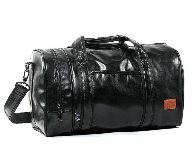 2018 Hot PU leather Large Sports Training Fitness Bag Gym Bag Men Women  Independent Shoes Travel 1c33eb036e