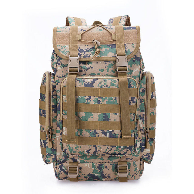 831bb681569d 40L Men Women Tactical Military Backpack Camping Rucksack Molle Bag Travel Outdoor  Sports Backpacks Schoolbag Waterproof