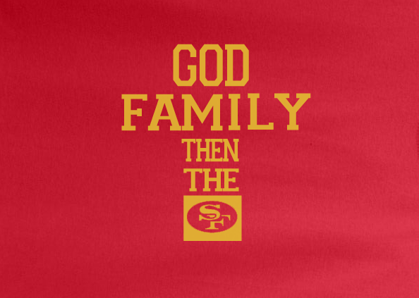 Red Custom 1 Color KC Kansas City Chiefs God Family then the Chiefs Football Tee Tshirt T-Shirt