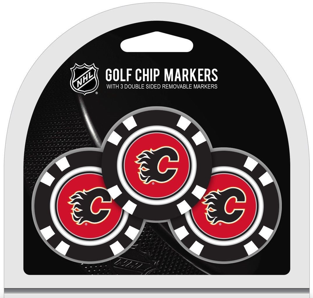 NHL Calgary Flames Poker Chip Golf Ball Markers
