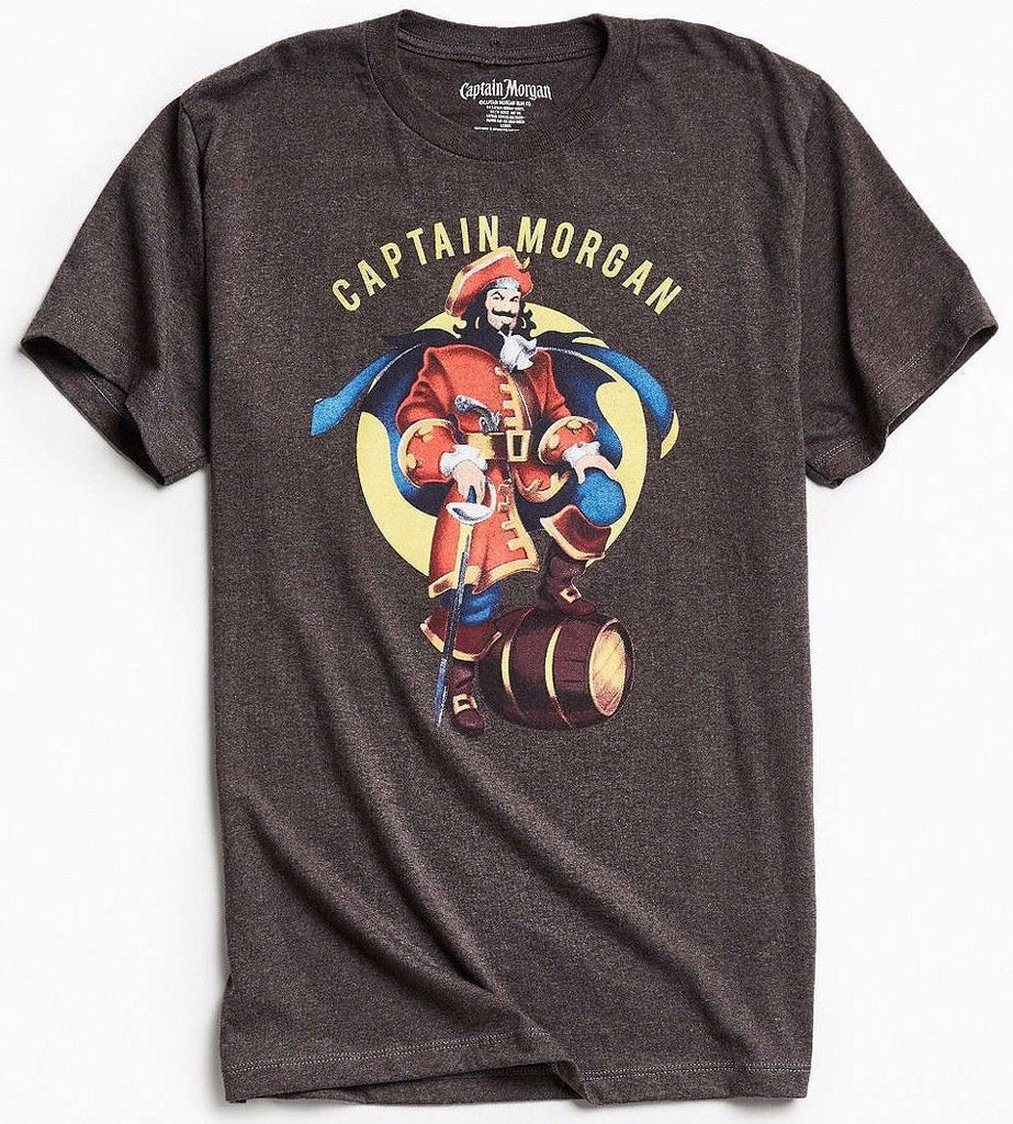 captain morgan t shirt charcoal nwt licensed official kickoffshirts. Black Bedroom Furniture Sets. Home Design Ideas