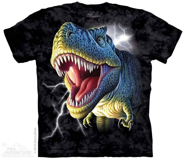 New LIGHTENING T- REX T SHIRT  MOUNTAIN