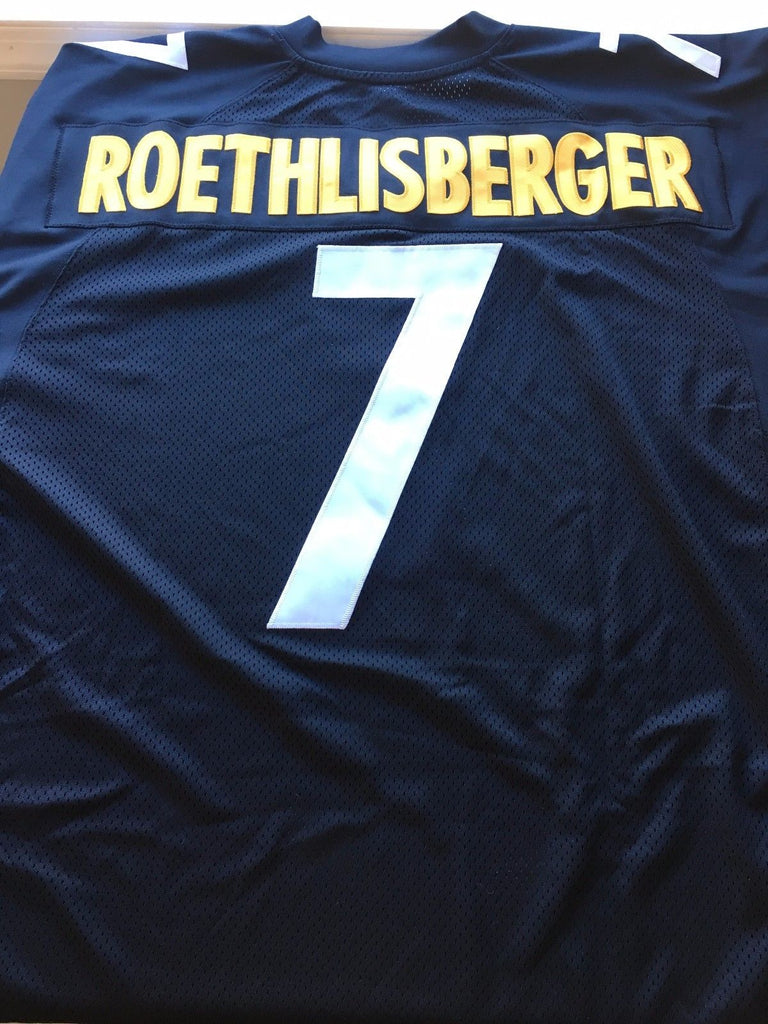 MEN'S BEN ROETHLISBERGER #7 PITTSBURGH STEELERS AUTHENTIC BLACK