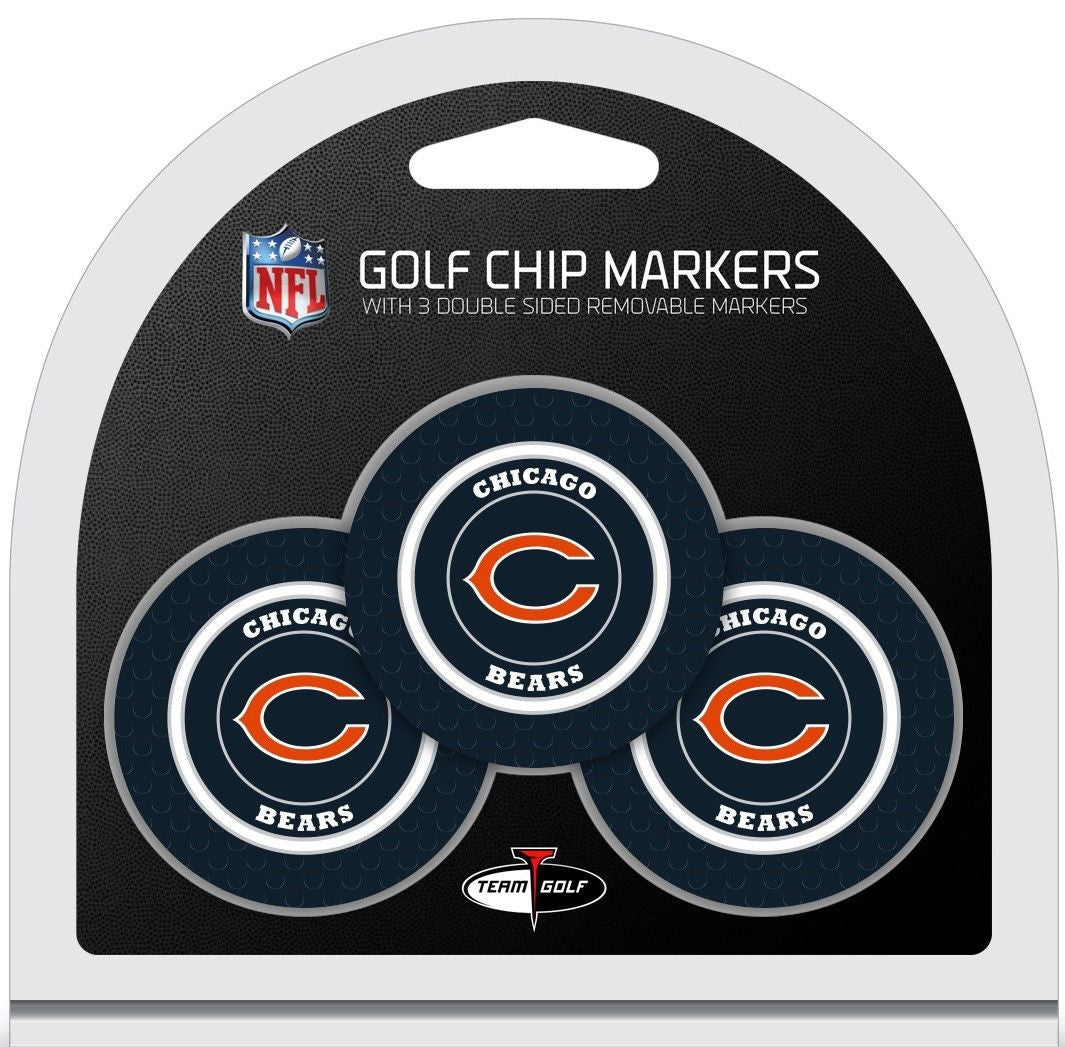 NFL Chicago Bears Poker Chip Golf Ball Markers