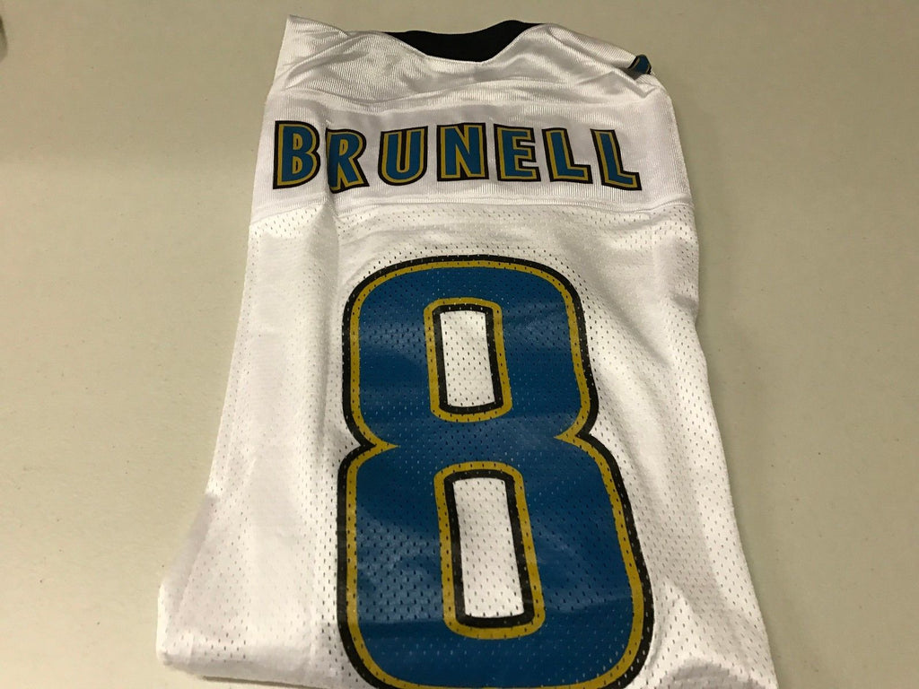 BRAND NEW MEN'S MARK BRUNELL #8 RETRO JACKSONVILLE JAGUARS WHITE  free shipping