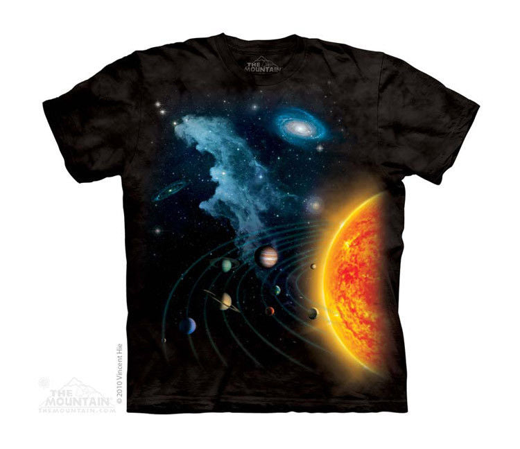 New SOLAR SYSTEM YOUTH CHILD  T SHIRT MOUNTAIN