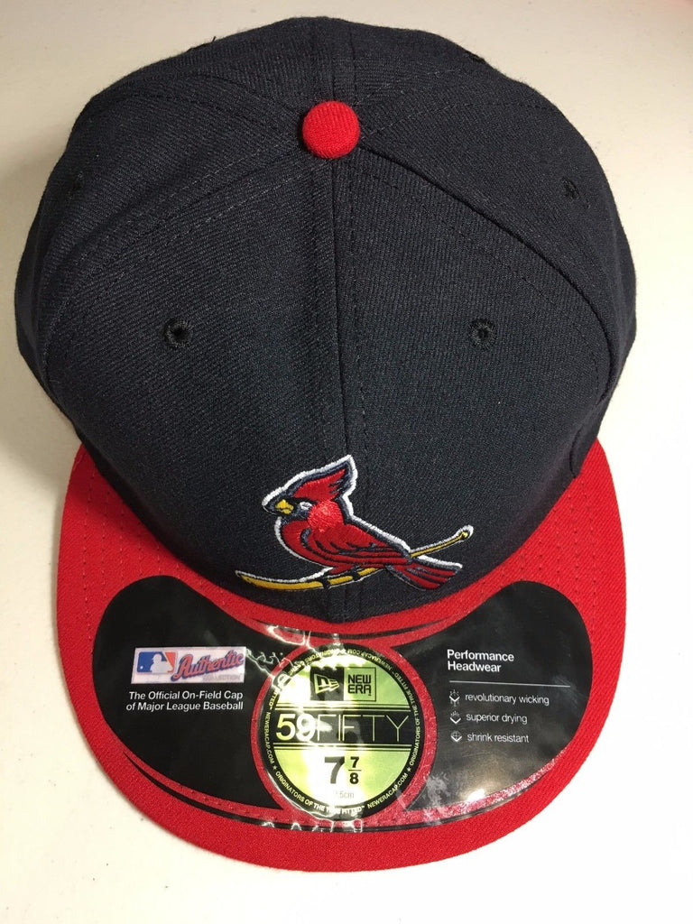 brand new f72bf 42952 003 KO2. NEW ERA ST. LOUIS CARDINALS RED BRIM RETRO 5950 ONFIELD FLAT BRIM  FITTED HAT