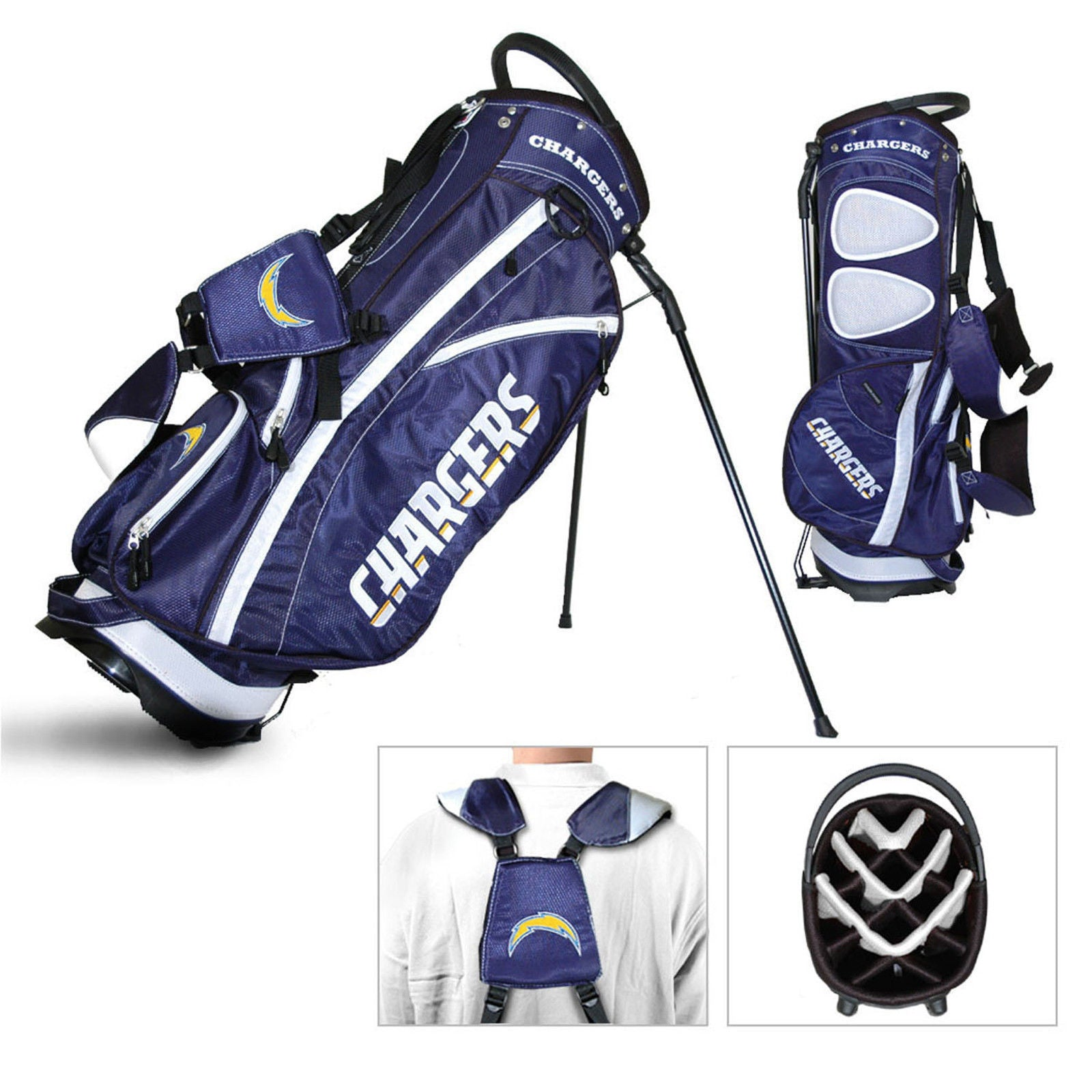 NFL Los Angeles Chargers Fairway Golf Stand Bag FREE SHIPPING!