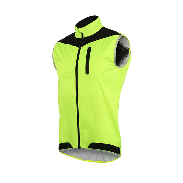... ARSUXEO Men Women Cycling Vest Windproof Waterproof Running Vest MTB  Bike Bicycle Reflective Clothing Sleeveless Cycling ... c27c94c1c