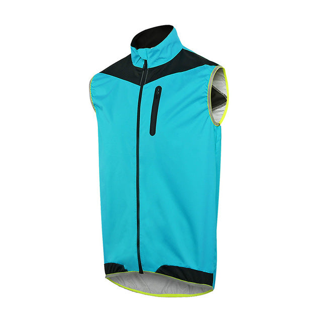 ... ARSUXEO Men Women Cycling Vest Windproof Waterproof Running Vest MTB  Bike Bicycle Reflective Clothing Sleeveless Cycling e6e8a74a3