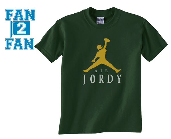 Green Custom 2 Color Air Jordy Nelson Green Bay Packers Fan Tee Tshirt T-Shirt
