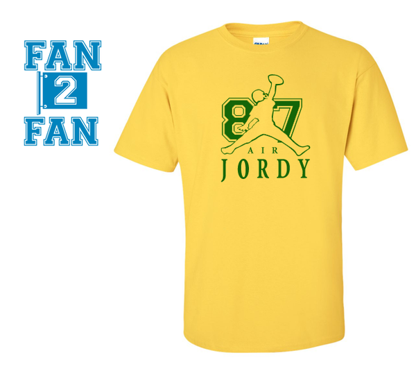 Gold Custom 1 Color Air Jordy Nelson Green Bay Packers Fan Tee Tshirt T-Shirt